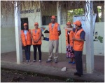 Miembros de la Comisión Comunal de Protección Civil de la Comunidad La Papalota detallando aspectos de procedimiento en período de emergencia.