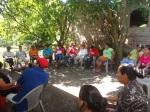 Grupo Local San Hilario analizando la problemática de la zona (Fuente: Asociación Mangle, 2012.)