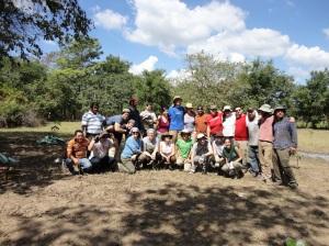 Equipo de Delegación y Personal de Asociación Mangle- Foto por José María Argueta