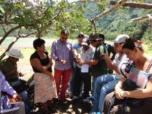 Unidades Ambientales en Jornada de Uso de GPS y Brújula (foto por José María Argueta)