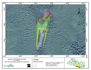 Un ejemplo de información procesada mediante el trabajo de campo de los pescadores y uso de tecnología